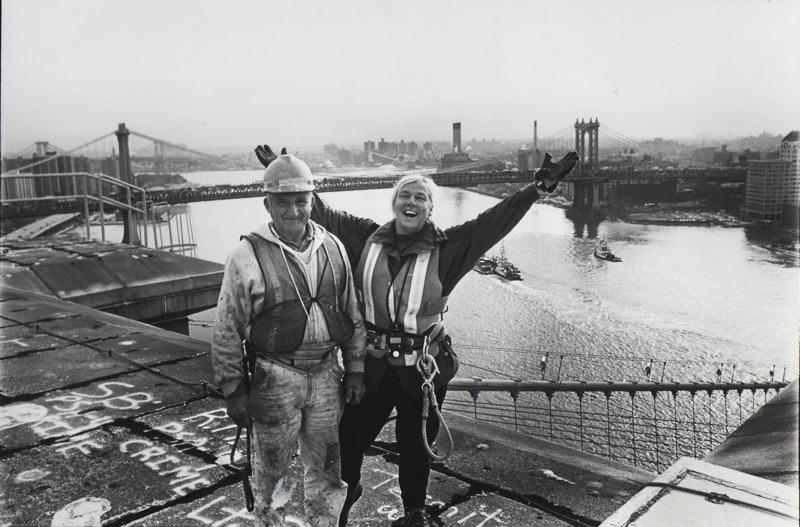 Suzanne Dechillo on the Brooklyn Bridge