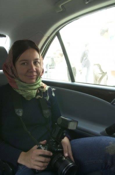 Elizabeth Dalziel in Gaza 2001