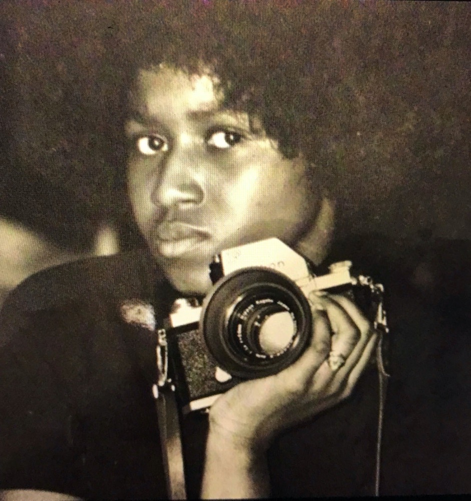 Early image of Michelle Agins, staff photographer at the NYT